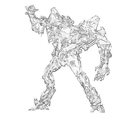 starscream coloring page transformers fall of cybertron starscream robot surfing