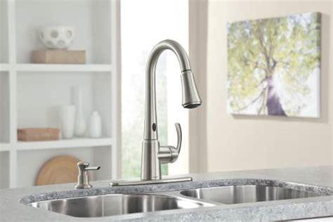 shop moen delaney with motionsense spot resist stainless 1 delaney spot resist stainless one handle high arc pulldown