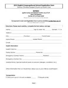 retreat registration form template word images frompo