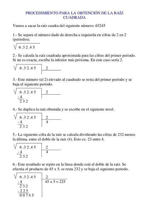 resolver raices cuadradas resolver ra 237 ces cuadradas