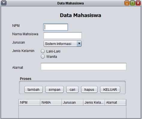 tutorial membuat menu login dengan java netbeans dan membuat form data mahasiswa java netbeans koneksi database