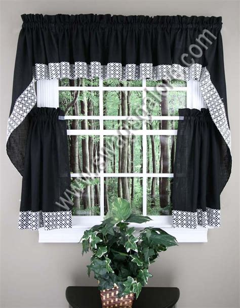 Swag Curtains For Kitchen Salem Kitchen Curtains Lorraine Jabot Swag