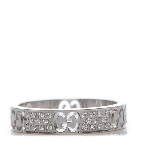 Gucci G063 White List Gold gucci 18k white gold icon stardust thin band ring