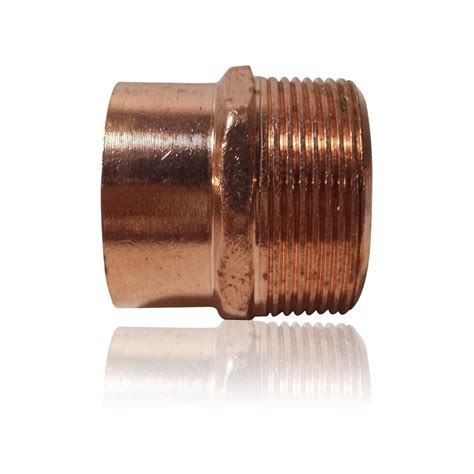 Plumbing Fittings by 1 1 2 Quot Threaded Adapter Mip X C Copper Pipe Fitting