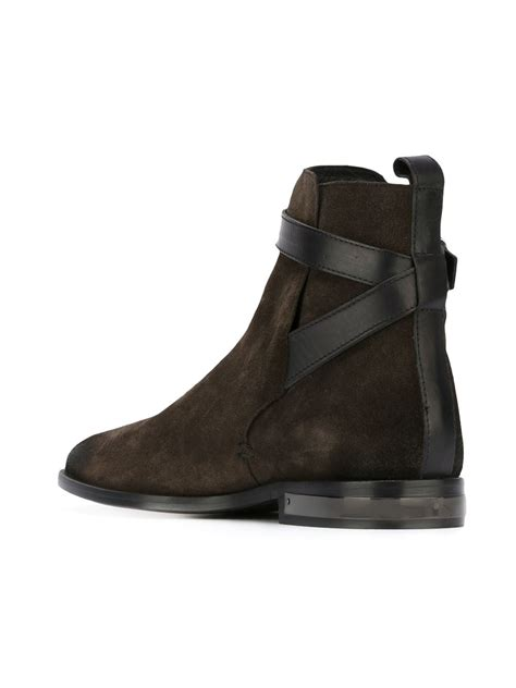 Just Shoes Is just cavalli buckle fastening boots in brown for lyst