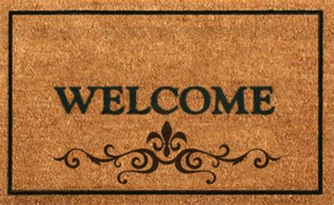 welcome mat second marketplace welcome mat brown