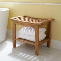 bahtroom unique teak stool bathroom completing rustic