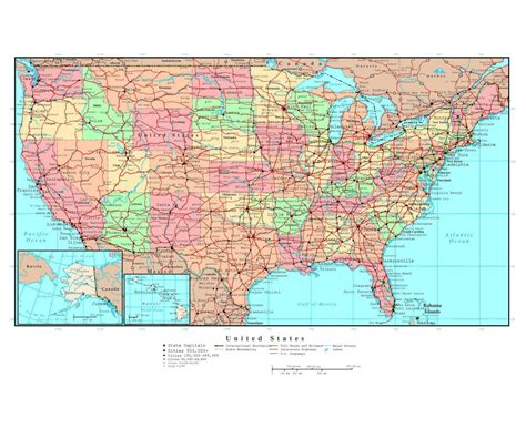 map of the united states with major highways maps of the usa detailed map of the usa the united