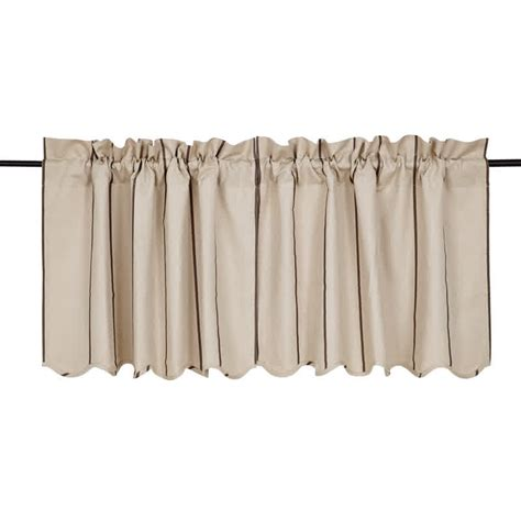 curtains 24 x 36 charlotte slate scalloped curtain tiers 24 quot x 36
