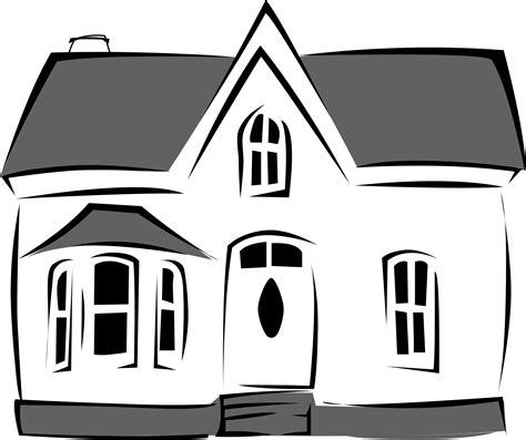 black and white house school black and white house clipart cliparts and others art inspiration