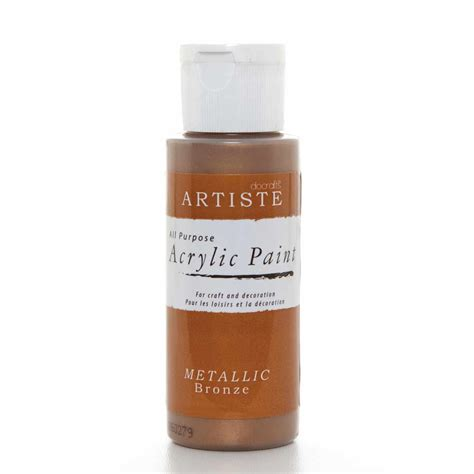 acrylic paint is for artiste 2oz acrylic paint metallic bronze