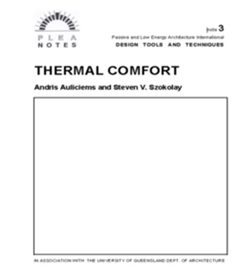 Leed Thermal Comfort by Journal Of Indoor Environmental Quality