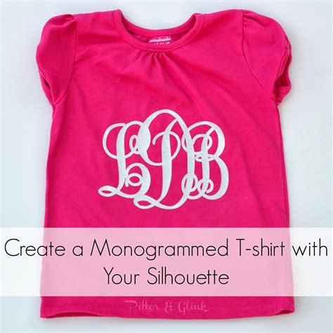 Dg Back To Big Size Tshirt pitterandglink diy monogrammed t shirts with silhouette