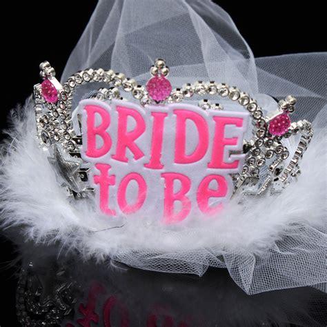 Mahkota Tiara Crown Bridal Shower Small With Veil Without Veil Sc0017 to be crown tiara lace veil hen