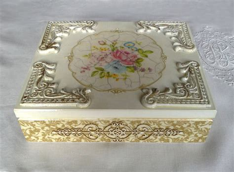 Serviette Decoupage On Wood - wooden box decoupage box wooden napkin stand napkin