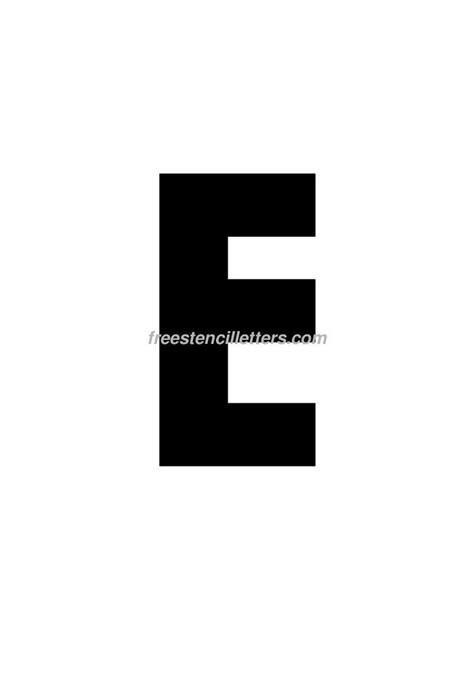 printable 9 inch letter stencils print 9 inch e letter stencil free stencil letters