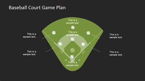 game plan layout baseball court game plan powerpoint template slidemodel