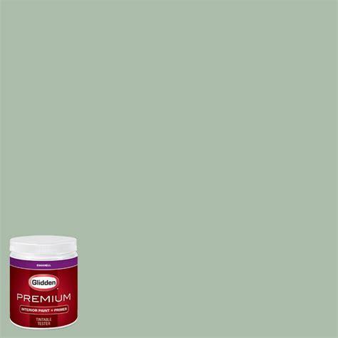 glidden premium 8 oz hdgg63 pale jade eggshell interior paint with primer tester hdgg63p 08en