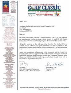 Golf Fundraising Letter Allegiance News Events 27th Golf Classic Sponsor Letter 791x1024 Images Frompo