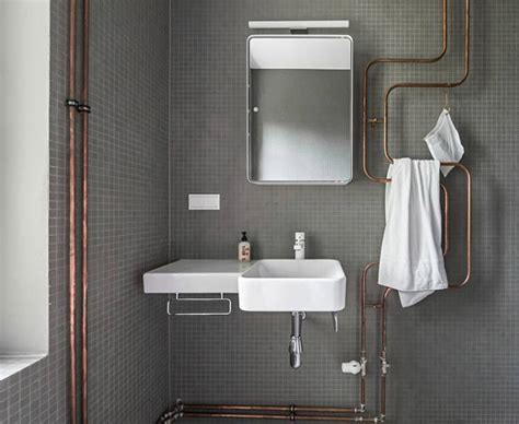 Bathroom Pipes by Exposed Copper Bath Pipes Towel Warmer Sculpture