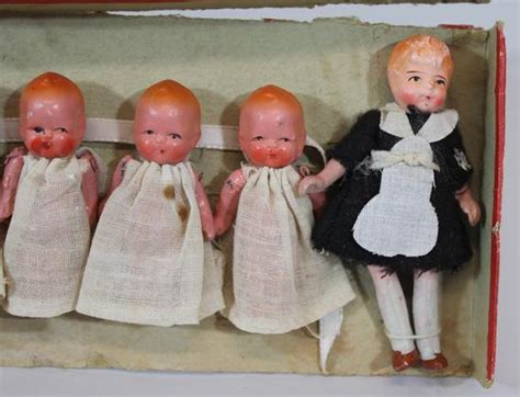 dionne bisque doll small antique c1940s japan dionne quintuplets nanny