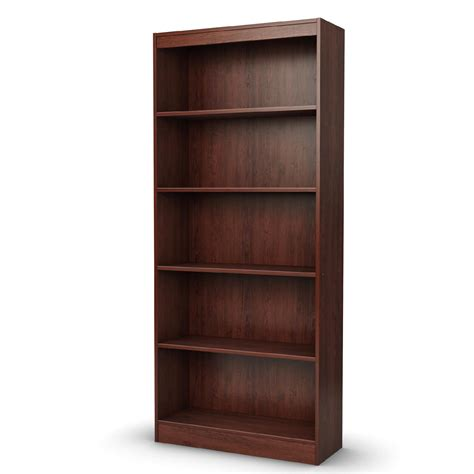 wooden bookshelves sauder 51200 000 beginnings 5 shelf wood bookcase cinnamon cherry finish sears outlet