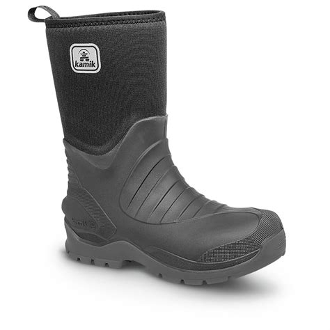 kamik s elements shelter rubber boots black 609575
