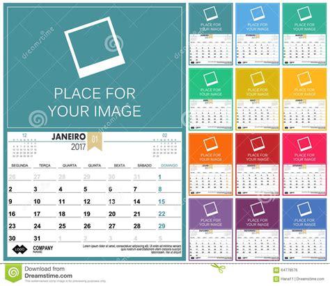 Calendã 2017 Para Imprimir Portugal Portuguese Calendar 2017 Stock Vector Image 64778576