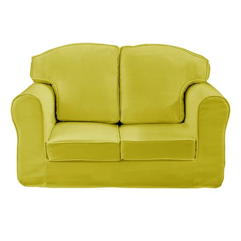 kids loveseat childrens loose cover sofa in green kids sofas cuckooland