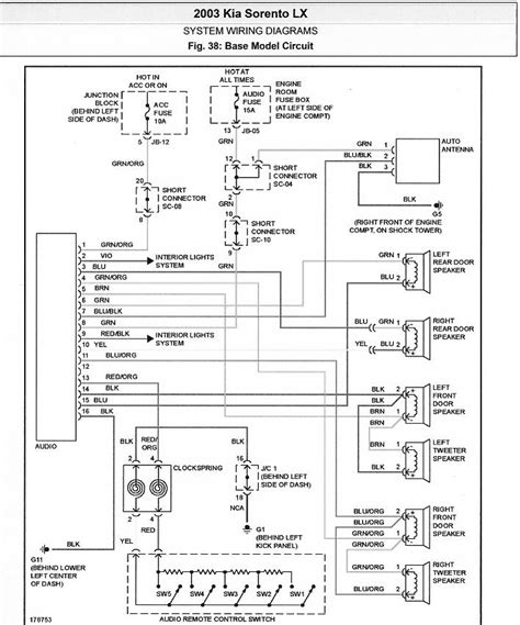 2005 kia spectra radio wiring diagram 37 wiring diagram