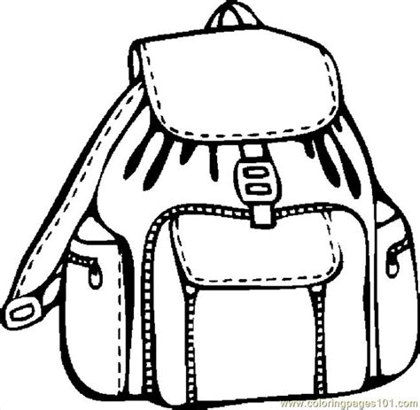 backpack coloring page free coloring pages of backpack
