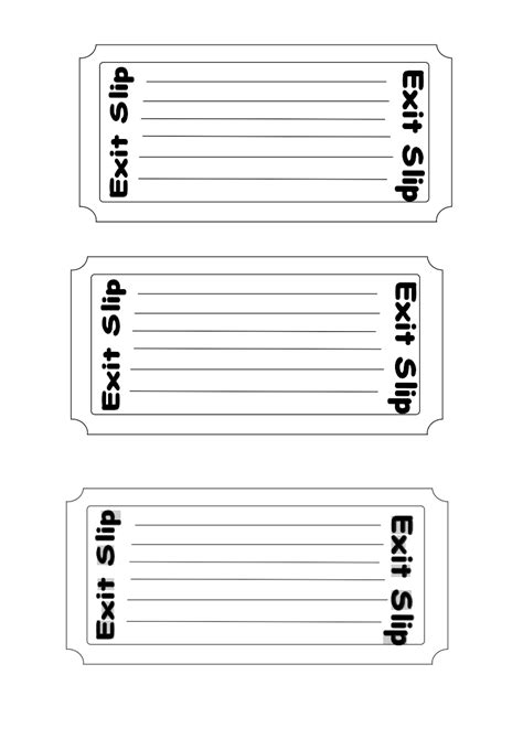classroom exit ticket template 16 exit ticket clip