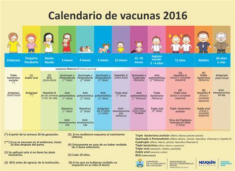 calendario de salud 2016 calendario de vacunas 2016