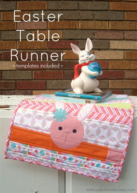 You To See Easter Table Runner By Allthatpatchwor - quilt as you go table runner tutorial with free printable