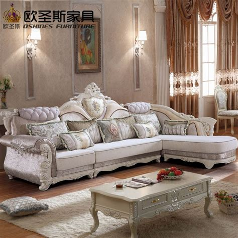 luxury  shaped sectional living room furniutre antique europe design classical corner wooden