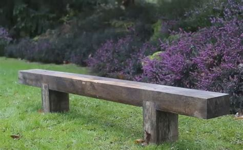 railroad tie bench a reclaimed railroad tie wood bench peanut chuck
