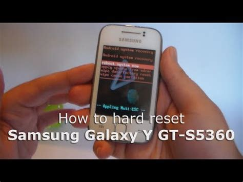 factory reset samsung galaxy y s5360 to restore default samsung galaxy y s5360 hard reset how to make do