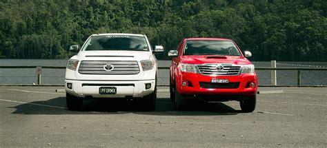 Toyota Hilux Vs Toyota Tundra Toyota Tundra And Toyota Hilux Test