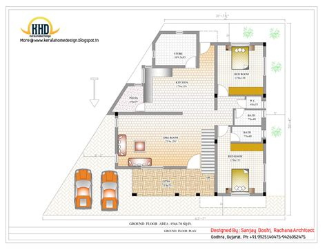 3 story house floor plans 3 story house plan and elevation 3521 sq ft kerala