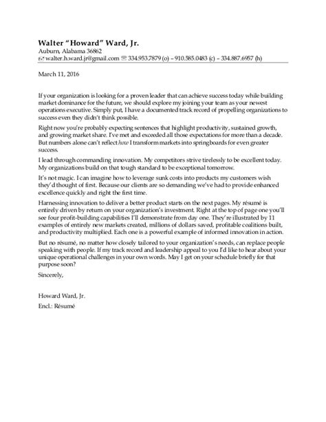 Ward Cover Letter by Ward Walter H Jr Cover Letter Resume References 8 Feb 2016