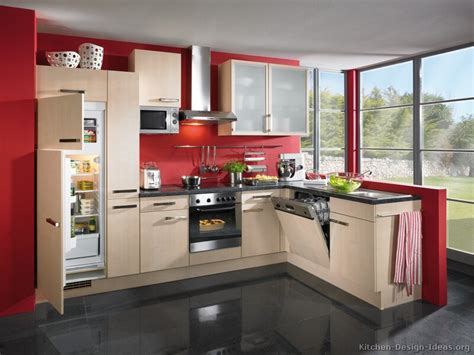red wall kitchen ideas pictures of kitchens modern light wood kitchen