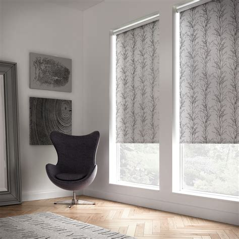 grey patterned blinds roller blinds amanda for blinds and curtains