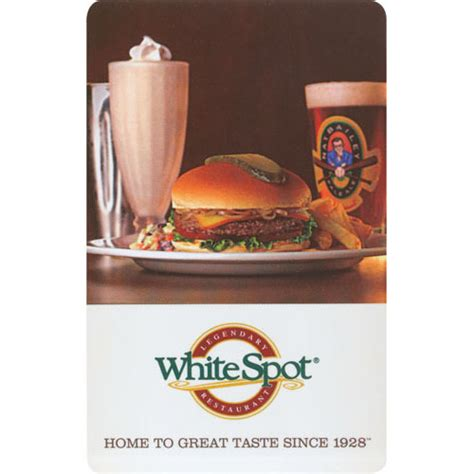Ubc Gift Cards - white spot 10 gift card more rewards
