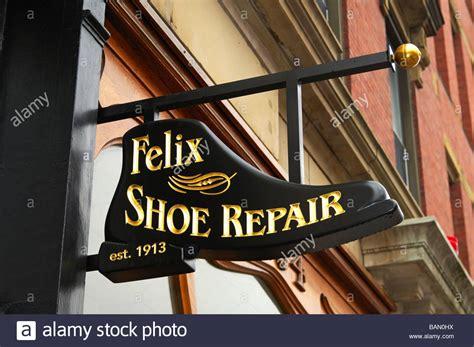 werkstatt möbel business sign shoe repair shop stockfotos business sign