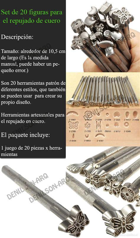 herramientas para repujado de cuero set de 20 figuras para repujado cuero herramientas