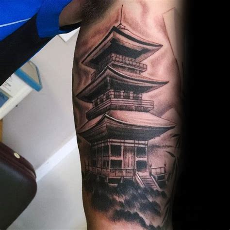 chinese temple tattoo designs 50 japanese temple designs for buddhist ink ideas