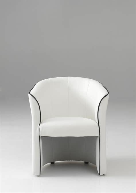 fauteuil cabriolet moderne en pu blanc cyrille fauteuil