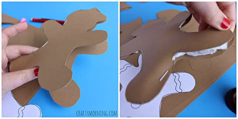 How To Make A Gingerbread Out Of Paper - stuffed gingerbread boy craft for crafty morning