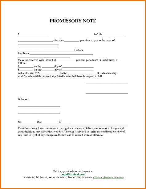 template for a promissory note 7 promissory note template free itinerary template sle