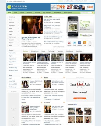 theme junkie forester premium wordpress themes